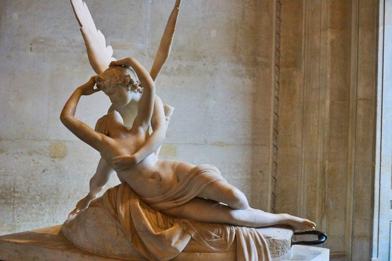 Escultura de Eros y Psique de Antonio Canova
