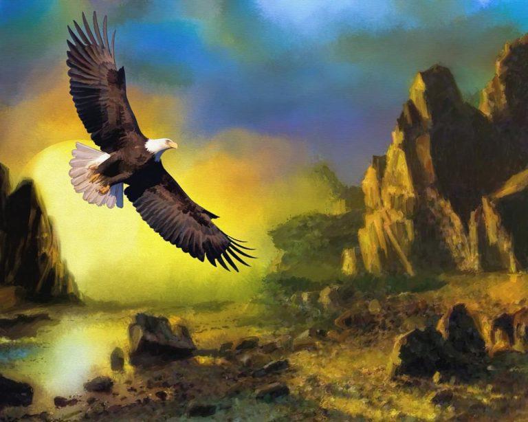 Zeus volando cómo un águila
