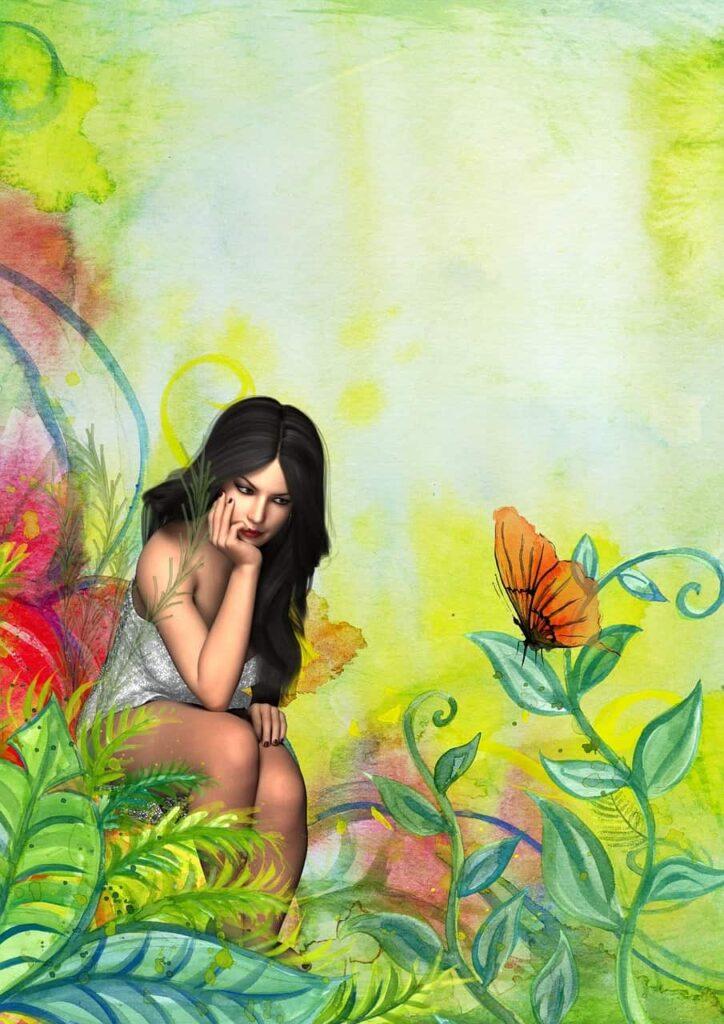 Ninfa de las flores